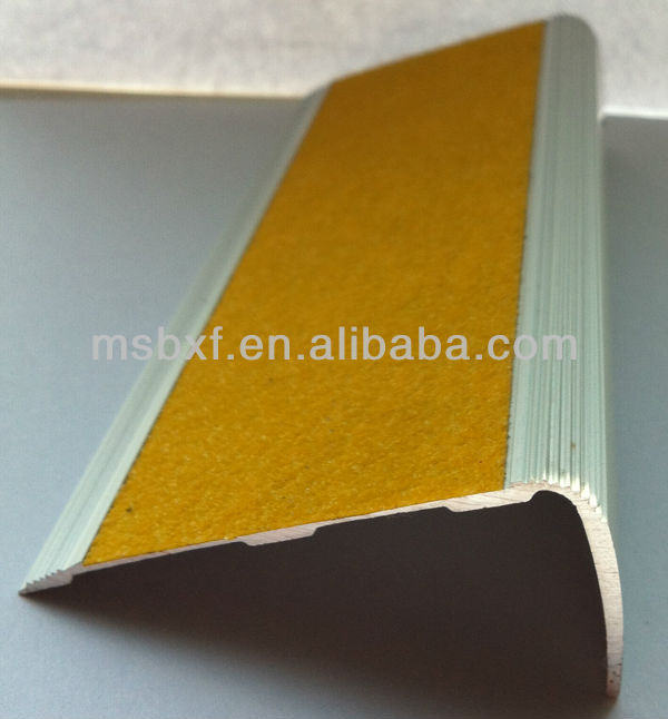 anti slip floor paint pvc stair nosing heavy duty aluminium stair