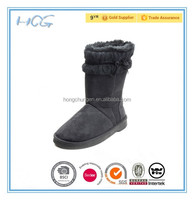 Black with bow stripe women micro suede indoor and outdoor EVA boots