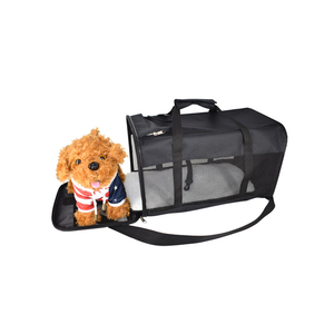 Airline Approved Soft Sided Black Pet Travel Carrier For Dogs Cats Large Bag