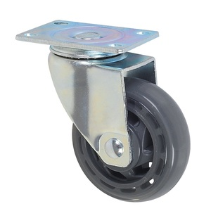 Factory Wholesale Injection Gray PU Wheel And Caster 75-125mm