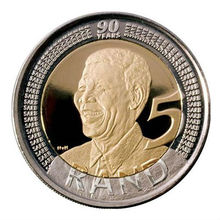 Sudafrica Presidente Nelson Mandela Moneta Souvenir, Bi-metallic moneta, 90th Birthday In <span class=keywords><strong>Edizione</strong></span> Limitata