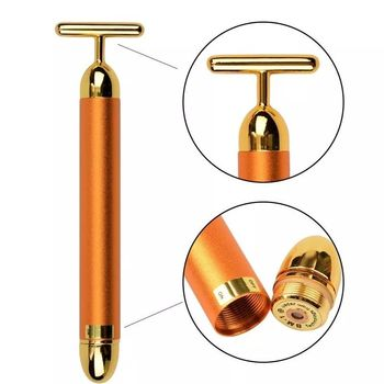 HOT SELL 24k Gold Plated Facial Massager Beauty Bar, security tag, export to Japan