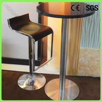 Black quartz top end tall round table