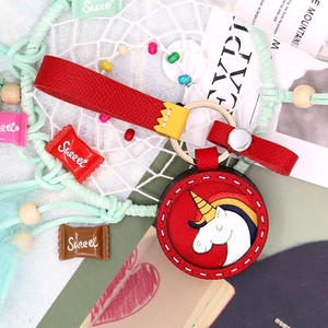 OEM Christmas gifts face changing low price pu keychain