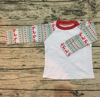 baby new years boy clothes christmas sales Reindeer icing raglan shirts giggle moon remake outfits