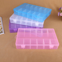 13 Detachable Compartments Clear Plastic Divided Storage Box for Screws
