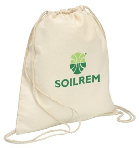 Custom Printed Organic cotton fabric drawstring bag