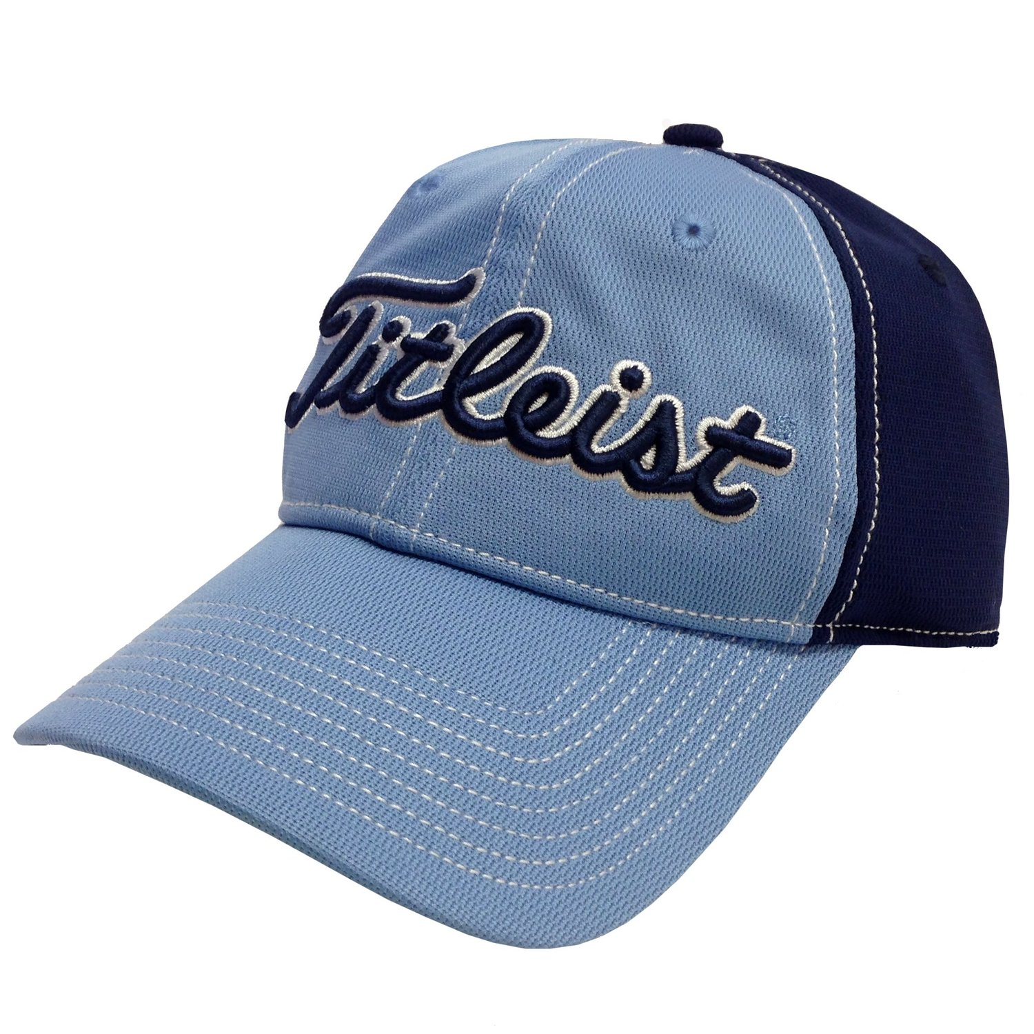 a068e9f6d71 Get Quotations · New 2015 Titleist Performance Pique Relaxed Fit Hat COLOR   Light Blue w  Navy