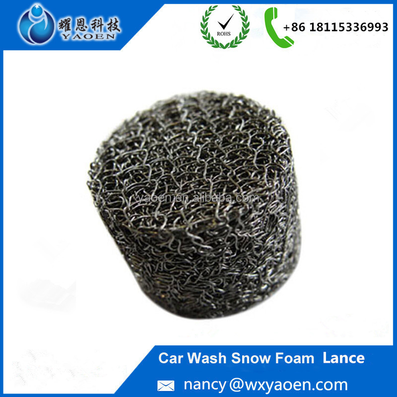 Alibaba Gold Member Snow Foam Lance Compressed Wire Mesh Filter