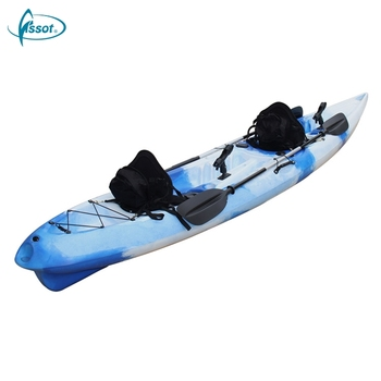 Professional double PE fishing kayak,2 person PE fishing boat,2 person PE pedal kayak