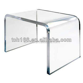 8mm thickness clear acrylic side tableu shaped acrylic acrylic furniture