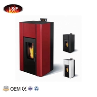 18 kw Automatic Burning Water Heating Hydro Pellet Stove With Back Boiler