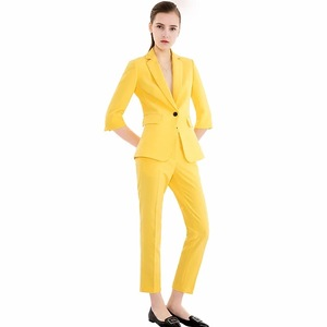 formal wear dovetail women tuxedo jacket blazer pantssuit ladies business blazer suit made in China