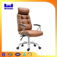 2015 New design executive leather office chair with footrest