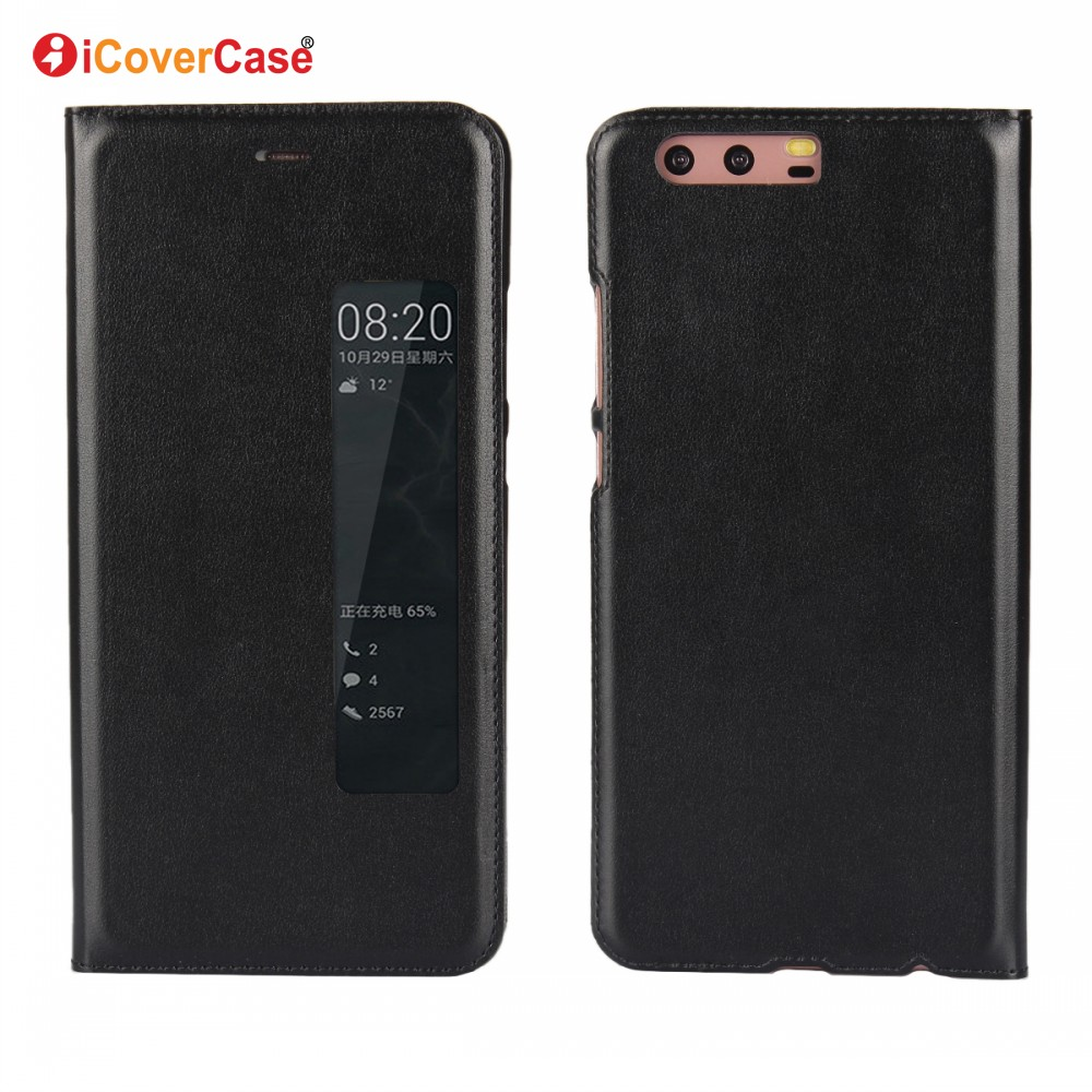 New Product Battery Flip Cover View PU Leather Case for Huawei P10 P10 Plus Coque with Auto Sleep Function Etui Fundas Carcasas