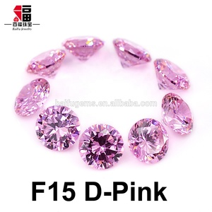 clear fashionable jewelry new products wholesale Brazil Wax Setting Synthetic dark pink CZ stone