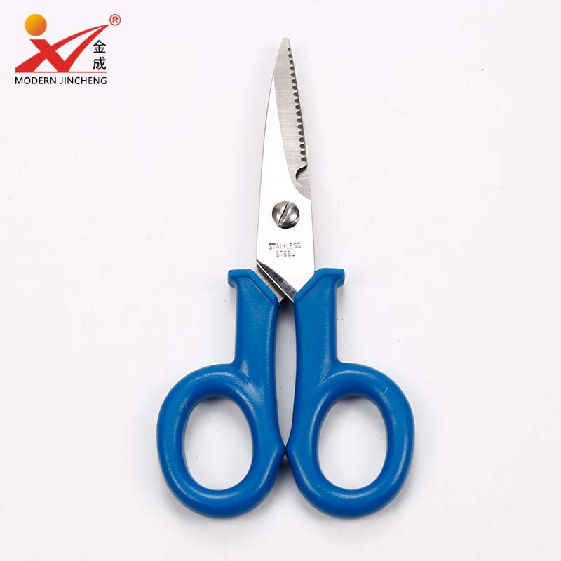 STAINLESS STEEL FLORIST SCISSORS WITH WIRE CUTTER 140mm LONG SOFT GRIP