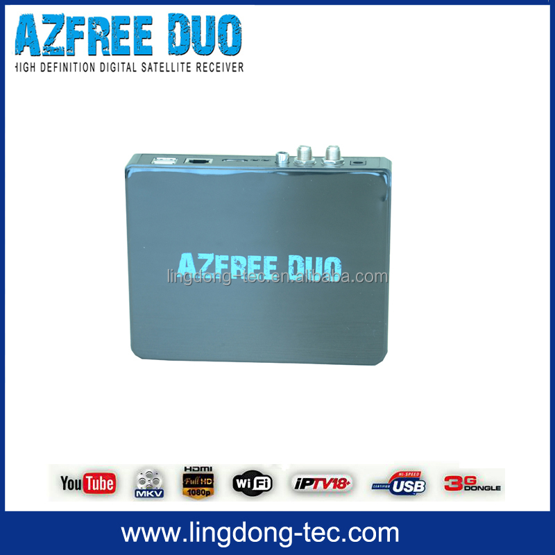 nagra 3 decoder satellite antenna Azfree DUO with free iks sks 3g wifi dongle for Chile