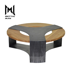 Modern small couch tall end tables wood top black living room end tables