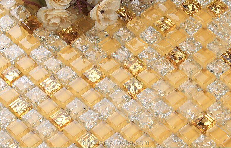 Blattgröße 300x300mm dicke 8mm glas kristall mosaik für