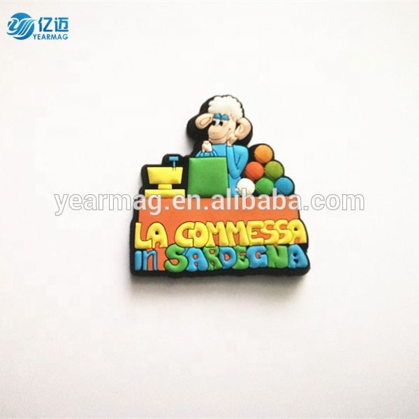 China supplier cheapest price OEM 3D world city country tourist three dimensional soft PVC silicone souvenir fridge magnet