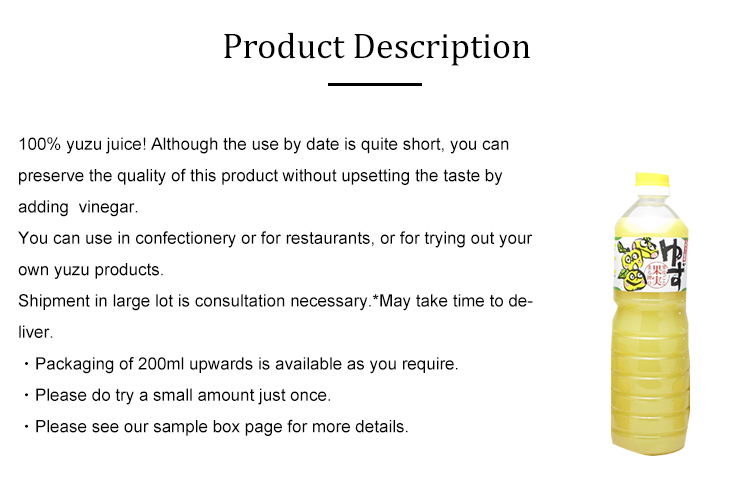 Japanese local supplier High Quality Tasty Healthy Organic original juice
