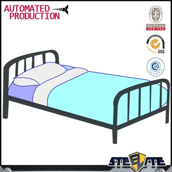 Standard Size Adult Single Cot Bed Single Metal Bed Frame With ...
