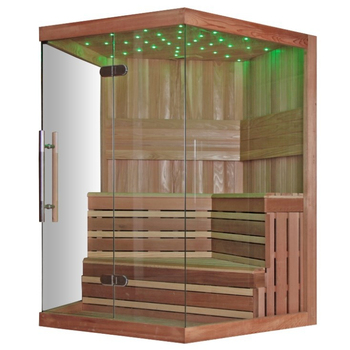 mooie led verlichting therapie sauna cederhout sauna
