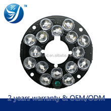 China alibaba Shenzhen wholesale CCTV accessories infrared illuminator 850nm night vision ir led lamp board for 60 CCTV camera