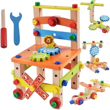 I bambini pretend <span class=keywords><strong>giocattoli</strong></span> All'ingrosso Per Bambini In Legno <span class=keywords><strong>FAI</strong></span> <span class=keywords><strong>DA</strong></span> <span class=keywords><strong>TE</strong></span> Dado Viti Strumenti Assemblare <span class=keywords><strong>giocattoli</strong></span> di legno sedia giocattolo