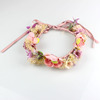 Wholesale New Jewelry Handmade Artificial Fabric Flower Garland Hair Ornaments Hair Bands Bridal Wedding Decoration Headdress