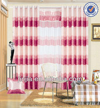 SC03123 latest curtain designs 2014 Polyester Embroidery Voile Fabric Eyelets Curtain
