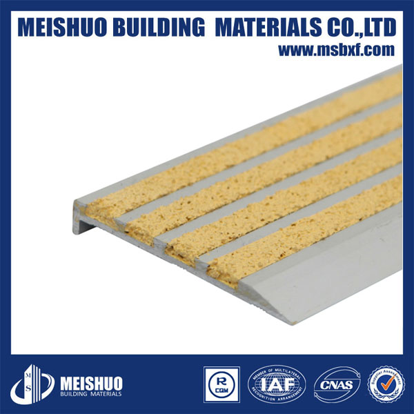 Covering Stair Treads/Anti Slip for Wooden Stairs//Stairway Treads with Extruded Aluminum Alloy (MSSNC-22)