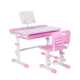 Home use ergonomic children study table desk height adjustable kids study desk desk and chair set
