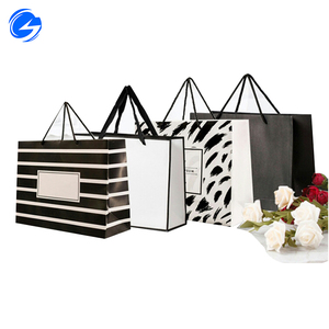 Luxury Custom Brand Logo cheap price Printed Small Jewellery Packaging Gift Boutique Carry shopping Paper Bag For Sale