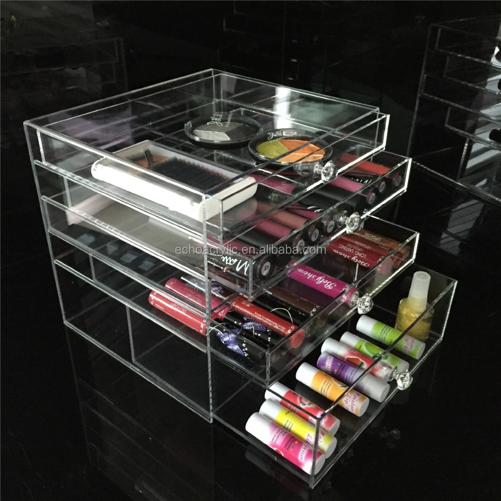 5 drawers clear acrylic <strong>retail</strong> display drawers made in yiwu factory