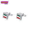 2018 Hot Personalized Men's Accessories Jewelry Fashion Customized Italy Flag Cufflinks for Men