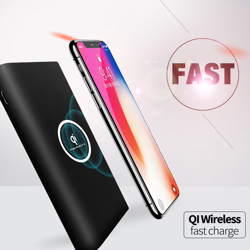 Online Shopping Shenzhen <strong>Electronics</strong> 10000mah Compatibility Qi Quick Wireless Charger Power Bank for Smart Phone