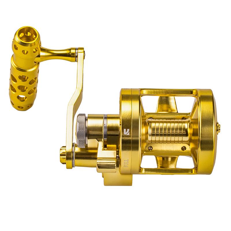 Noeby best fishing golden large reel fishing slow jigging full metal reel spinning jigging reel saltwater japan, Gold