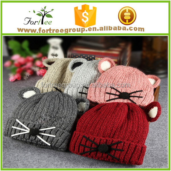 Venta al por mayor gorras tejidas a crochet de animales-Compre ...