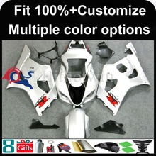 INJECTION MOLDING panels Fairing silver For Suzuki K3 GSXR-1000 2003 2004 GSX R1000 GSXR1000 Fairing