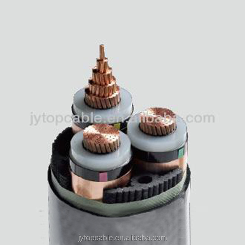Medium Voltage single core XLPE Insulated Steel Wire Armored PVC Sheathed Electrical power cable