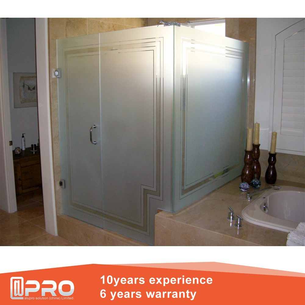 Obscure Glass Shower Door And