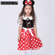 2016 Cosplay traje de halloween para cosplay chica minnie mouse vestido del gril