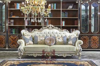 Luxury Classic European Sofa Set - Living Room Furniture - Wooden ...