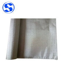 Conductive Fabric EMI Shielding RFID Blocking Anti Radiation Fabric Earth/Grounding Plaid Ripstop Fabric Width 1300 mm