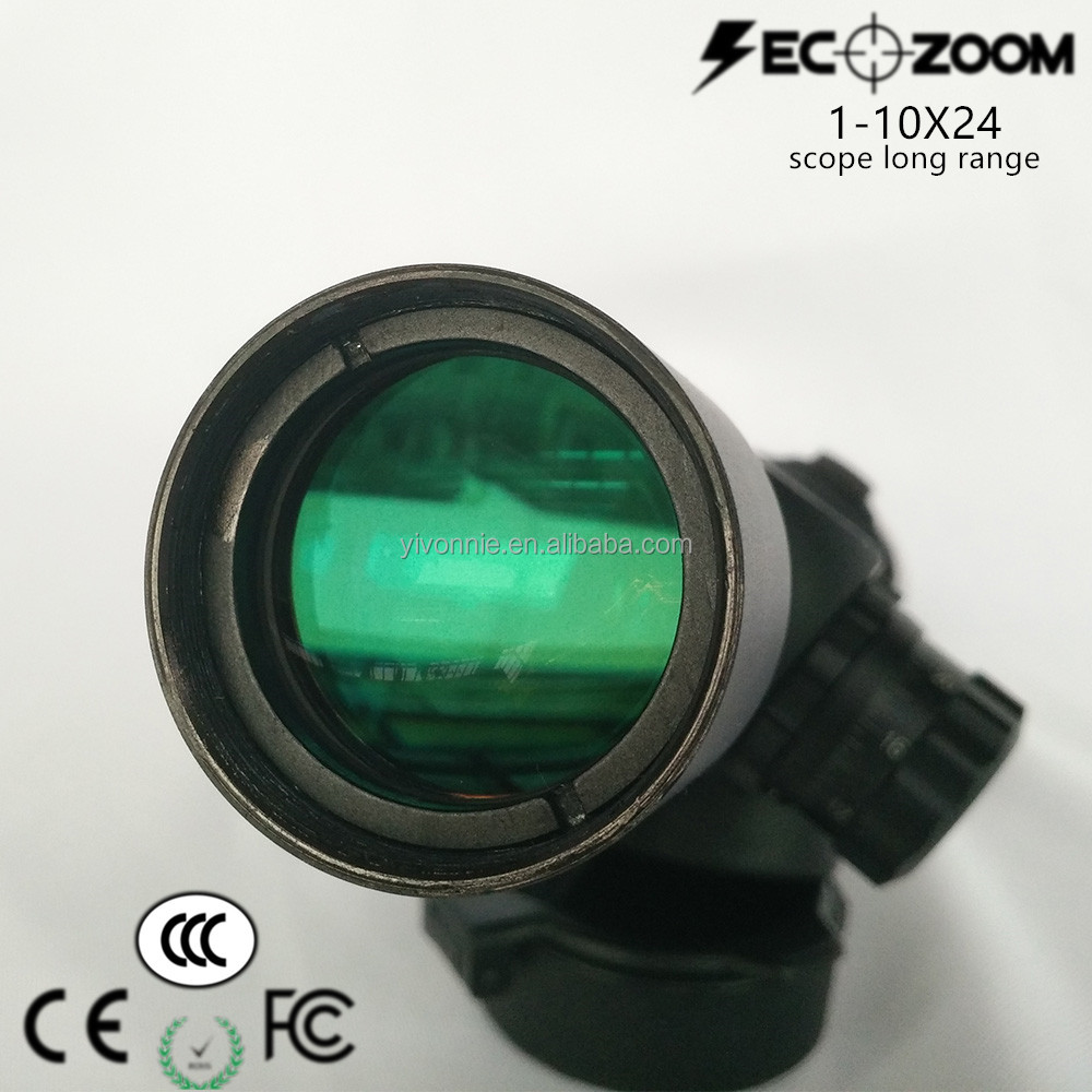 Secozoom 1-10X24 Optical Guns Hunting for Sale Scopes of Long Range for Caza and Shooting