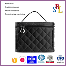 China wholesale makeup organizer nylon quilted cosmetic bag 2017