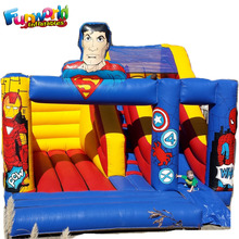 Commercial kids and adult superhero bounce house inflatable bouncy castle