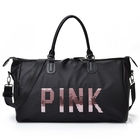 Fashion sequins nylon waterproof travel style luggage duffel bag set women